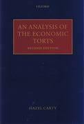 Cover of An Analysis of the Economic Torts