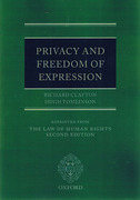 Cover of The Law of Human Rights: Privacy and Freedom of Expression