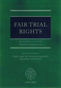Cover of The Law of Human Rights: Fair Trial Rights