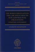 Cover of The Rome II Regulation: The Law Applicable to Non-Contractual Obligations: Updating Supplement