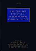 Cover of Principles of Evidence in International Criminal Justice