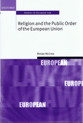 Cover of Religion and the Public Order of the European Union