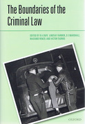 Cover of Boundaries of the Criminal Law
