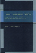Cover of Legal Interpretation: Broader Perspectives and Private Texts
