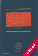 Cover of Competition Law and Regulation of Technology Markets (eBook)