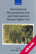 Cover of International Humanitarian Law and International Human Rights Law (eBook)