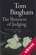 Cover of The Business of Judging: Selected Essays and Speeches 1985 -1989 (eBook)