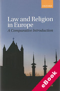 Cover of Law and Religion in Europe: A Comparative Introduction (eBook)