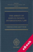 Cover of The Arrest of Ships in Private International Law (eBook)