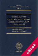 Cover of Intellectual Property and Private International Law (eBook)