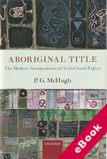 Cover of Aboriginal Title: The Modern Jurisprudence of Tribal Land Rights (eBook)