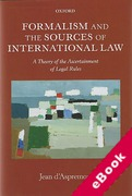 Cover of Formalism and the Sources of International Law: A Theory of the Ascertainment of Legal Rules  (eBook)