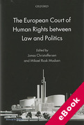 Cover of The European Court of Human Rights between Law and Politics (eBook)