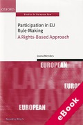 Cover of Participation in European Union Rule Making: A Rights Based Approach (eBook)