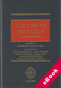 Cover of The Law of Privilege (eBook)