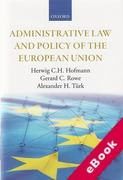 Cover of Administrative Law and Policy of the European Union (eBook)