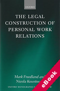 Cover of Legal Construction of Personal Work Relations (eBook)