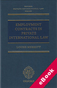 Cover of Employment Contracts In Private International Law (eBook)
