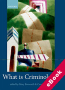 Cover of What is Criminology? (eBook)