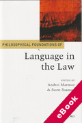 Cover of Philosophical Foundations of Language in the Law (eBook)