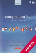 Cover of Competition Law of the EU and the UK (eBook)