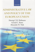 Cover of Administrative Law and Policy of the European Union