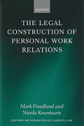 Cover of Legal Construction of Personal Work Relations