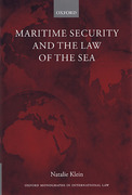 Cover of Maritime Security and the Law of the Sea