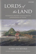 Cover of Lords of the Land: Indigenous Property Rights and the Jurisprudence of Empire