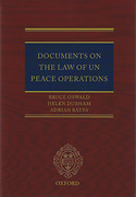 Cover of Documents on the Law of UN Peace Operations