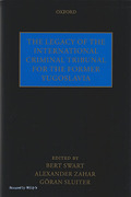 Cover of The Legacy of the International Criminal Tribunal for the Former Yugoslavia