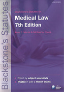Cover of Blackstone's Statutes on Medical Law