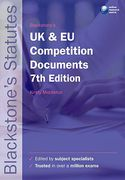 Cover of Blackstone's UK & EC Competition Documents