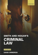 Cover of Smith and Hogan's Criminal Law