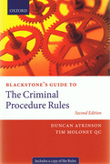 Cover of Blackstone's Guide to the Criminal Procedure Rules