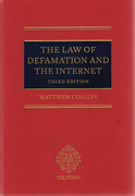 Cover of The Law of Defamation and the Internet