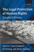 Cover of The Legal Protection of Human Rights: Sceptical Essays