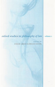 Cover of Oxford Studies in Philosophy of Law: Volume 1