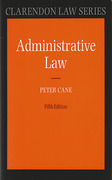 Cover of An Introduction to Administrative Law
