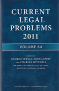 Cover of Current Legal Problems 2011: Volume 64