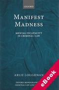 Cover of Manifest Madness: Mental Incapacity in the Criminal Law (eBook)