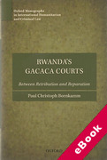 Cover of Rwanda's Gacaca Courts: Between Retribution and Reparation (eBook)