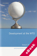 Cover of Development at the WTO (eBook)