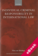 Cover of Individual Criminal Responsibility in International Law (eBook)