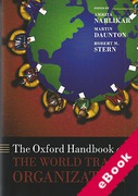 Cover of The Oxford Handbook on The World Trade Organization (eBook)