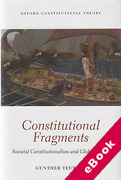 Cover of Constitutional Fragments: Societal Constitutionalism and Globalization (eBook)