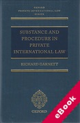 Cover of Substance and Procedure in Private International Law (eBook)
