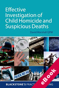 Cover of Effective Investigation of Child Homicide and Suspicious Deaths (eBook)