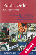 Cover of Public Order: Law and Practice (eBook)
