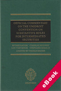 Cover of Official Commentary on the UNIDROIT Convention on Substantive Rules for Intermediated Securities (eBook)